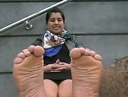 Indian Hotty Pleasantry Her Feet