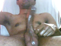 Indian oiled cock massage mastarbate hide spunk fountain cum glaze