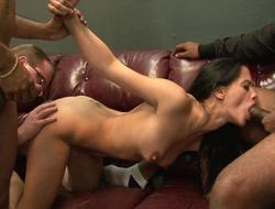 Marketable indian wife possessions banged wide of 3 dudes