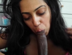 Indian Girls 1st blowjob creampie
