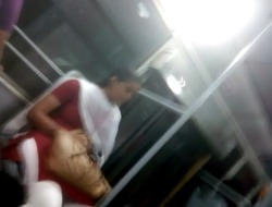 Shove around IT girl showing Boobs, Ass more Chennai Bus