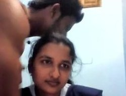 Indian desi gal fucking with show one's age in bedchamber