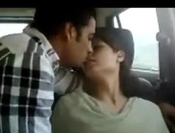 Indian bosom in car receives naughty